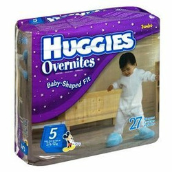 Huggies Overnites Diapers, Size 5, 27-Count
