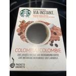 Starbucks via instant Columbia