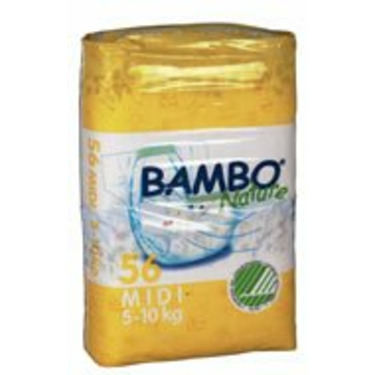 Bambo Nature® Eco-Friendly Baby Diapers - Size 3 - Midi - Fits 11 to 22 lbs - 56/Bg