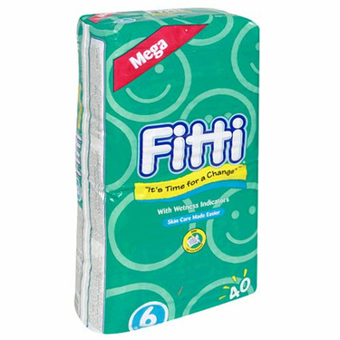 Fitti Mega Baby Diapers, Size 6, 40-Count Packages (4-Pack) (160 Diapers)