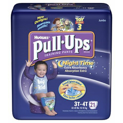 Huggies Pull-Ups Night Time Training Pants for Boys, Jumbo Pack, Size 3T-4T 21 ea