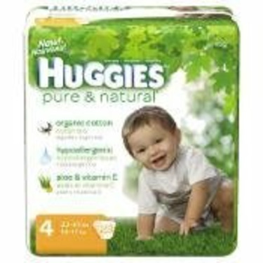 Huggies Pure & Natural Baby Diapers, Step 4, 23-Count