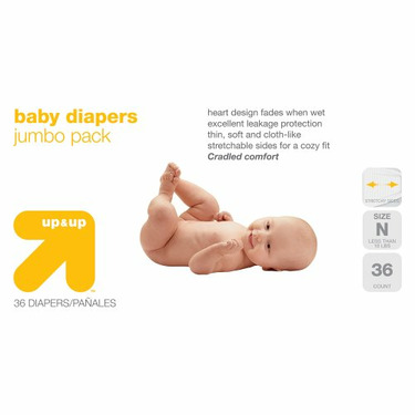 up & up™ Baby Diapers Jumbo Pack - Newborn (36 Count)