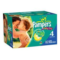 Pampers Baby Dry Diapers, Size 4, 82 diapers