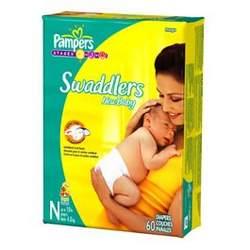Pampers Swaddlers Newborn - Mega Pack 60 Ct Newborn 0-10 lbs (Dry Max)