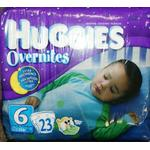 Huggies Overnites Diapers, Step 6 (35+ Lbs), 23-Count Packages