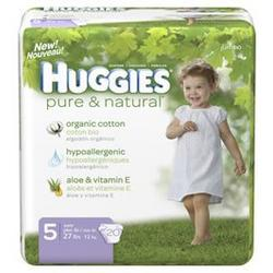Huggies Pure & Natural Baby Diapers, Step 5, 20-Count