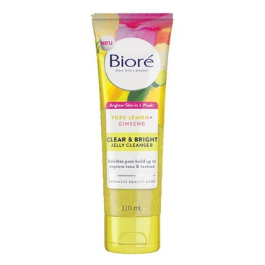 Bioré Clear & Bright Jelly Cleanser with Yuzu Lemon + Ginseng