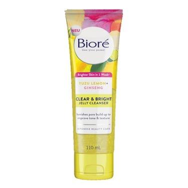 Bioré Clear & Bright Jelly Cleanser with Yuzu Lemon + Ginseng