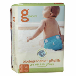 gDiapers Refill Case- Medium/Large (128 Count)