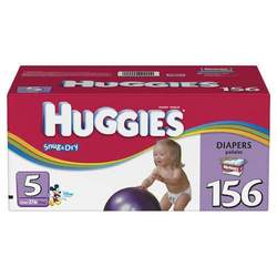 Huggies Snug & Dry Diapers, Size 5, 156-Count