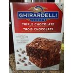Ghirrardelli triple Chocolate brownie