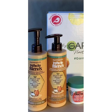Garnier Whole Blends Sulfate Free Remedy Honey Treasures Conditioner for Damaged Hair
