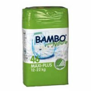 Bambo Nature® Eco-Friendly Baby Diapers - Size 4+ - Maxi+ - Fits 26.5 to 48.5 lbs - 46/Bg