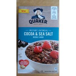 quaker cocoa and sea salt instant oatmeal