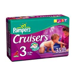 Pampers Cruisers, Size 3, Jumbo Pack, 32 Ct (Dry Max)
