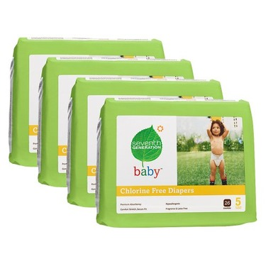 Seventh Generation Baby Diapers - Size 5 (104 Count)