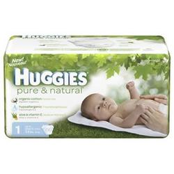 Huggies Pure & Natural Size 1 66ct
