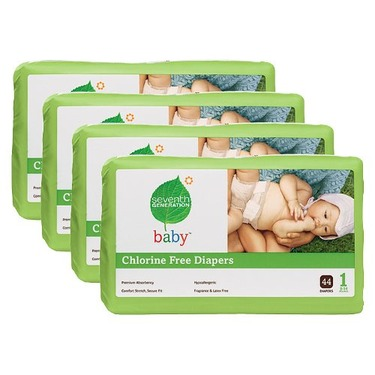 Seventh Generation Baby Diapers - Size 1 (176 Count)