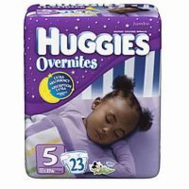 Huggies Overnites Diapers, Jumbo Pack, Size 5, 27+lbs 23 ea