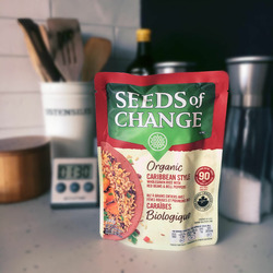 Seeds of change Caribbean style whole grain rice with red beans & Bell Peppers
