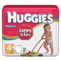 Huggies Snug & Dry Baby Diapers Size 4, (Case of 96 diapers, 4/24s)