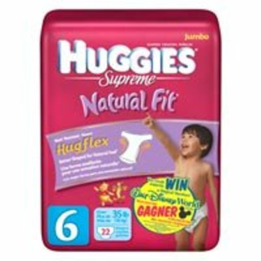Huggies Supreme Natural Fit- Size 6 (22 Diapers)