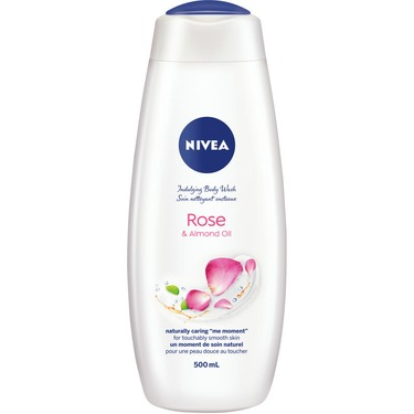 Nivea indulging body wash rose and almond oil