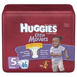 Huggies Supreme Natural Fit Diapers, Size 5, 46-Count (Pack of 2)