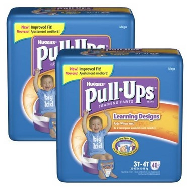 Huggies Pull-UpsTraining Pants Learning Designs , 2T/3T (Case of 104)