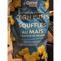 Great Value Buttery Flavoured Corn Puffs