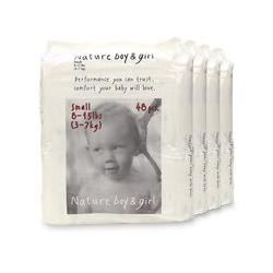 Nature Boy & Girl Disposable Diapers, Small (8 - 15 lbs) 192 ea