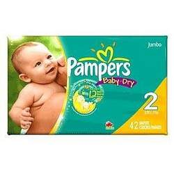 PAMPERS BABY-DRY SIZE 2 JUMBO Size: 2X42