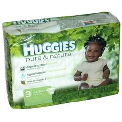 Huggies Pure & Natural Baby Diapers, Step 3, 26-Count