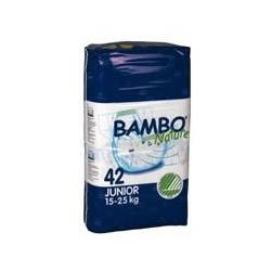 Bambo® Nature Chlorine-Free Eco-Friendly Baby Diapers (Size 5 Junior - Fits 33 to 55 lbs) - 42/Bg 84/Cs