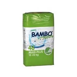 Bambo® Nature Chlorine-Free Eco-Friendly Baby Diapers (Size 4+ Maxi+ - Fits 26.5 to 48.5 lbs)- 46/Bg 92/Cs