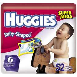 Huggies Diapers with Gigglastic Waistband, Size 6 (over 35 lb), Super Mega, Disney, 52 diapers