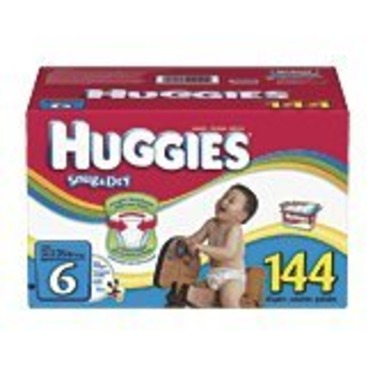 Huggies Size 6 (35+ Lbs) (Value Size - 144 Diapers)