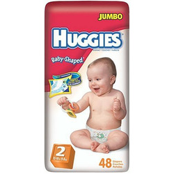 Huggies Baby-Shaped Fit Diapers with Gigglastic Waistband, Size 2, 48-count