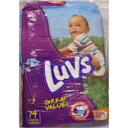 Luvs Ultra Leakguards - Size 2 - 74 ct
