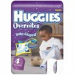Huggies Overnites Diapers, Size 4, 31-Count (Pack of 2)