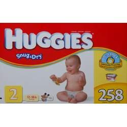 Huggies Snug & Dry Size 2 (12-18 lb) - 258 Diapers