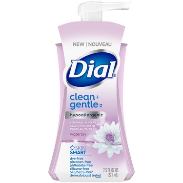 Dial Clean + Gentle Hypoallergenic Foaming Hand Wash-Waterlily- 221ml
