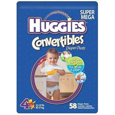 Huggies Convertibles Diaper-Pants, Size 4, 58-count