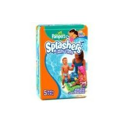 Pampers Splashers Swim Diapers Size 5 (30-40 lbs) 17 ea, 8 Packs