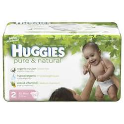 Huggies Pure & Natural Size 2 60ct