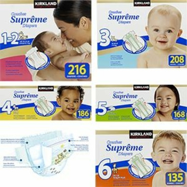 Premium Diapers, Size 6 up to 35+lbs (135 Diapers)