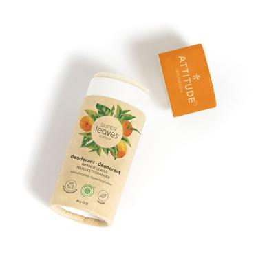 ATTITUDE Super Leaves Plastic-Free Natural Deodorant, Orange Leaves