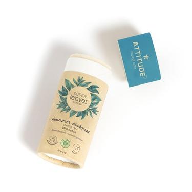 ATTITUDE Super Leaves Plastic-Free Natural Deodorant, Unscented