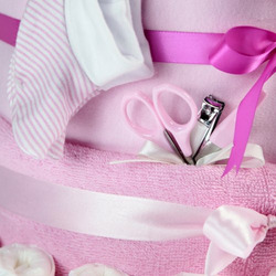 Baby Big Bottle Diaper Cake - Pink